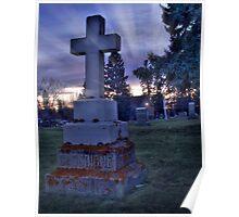 Cross Headstone Poster