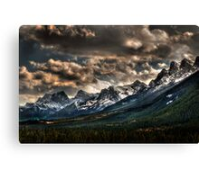 Alberta Rockies Canvas Print