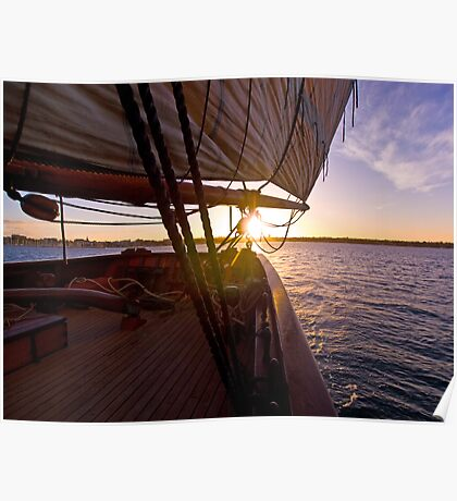 We set sail at sunset Poster