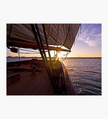 We set sail at sunset Photographic Print