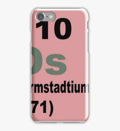 Darmstadtium Periodic Table of Elements iPhone Case/Skin