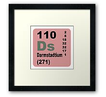 Darmstadtium Periodic Table of Elements Framed Print