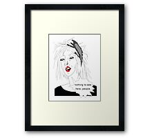 Nothing to see here, people Framed Print