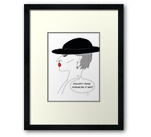 Shouldn't these kiddies be in bed? Framed Print