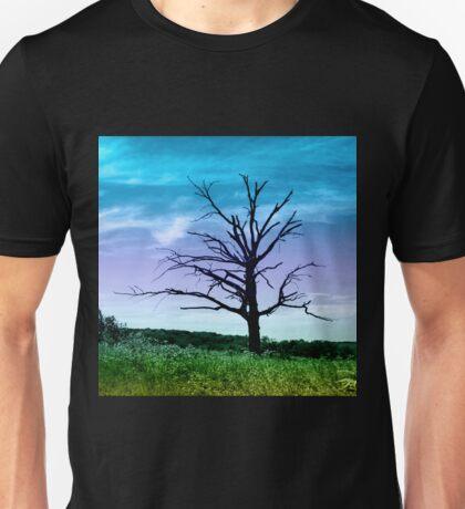 Dead Tree in Meadow Colorized Unisex T-Shirt