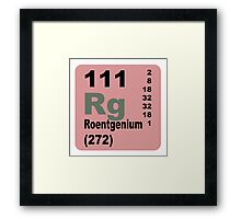 Roentgenium Periodic Table of Elements Framed Print