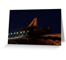 The Eiffel Tower At Night Greeting Card