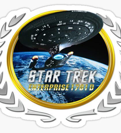 Star trek Federation of Planets Enterprise 1701 D  2 Sticker