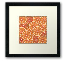 Grapefruit Slices Background 2 Framed Print