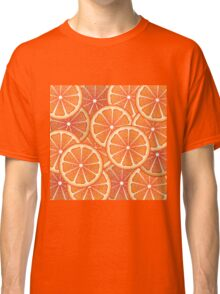 Grapefruit Slices Background 2 Classic T-Shirt