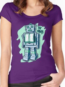 Retro Toy Robot Women's Fitted Scoop T-Shirt