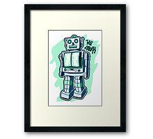 Retro Toy Robot Framed Print