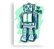 Retro Toy Robot Canvas Print