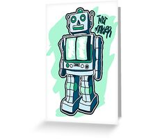 Retro Toy Robot Greeting Card