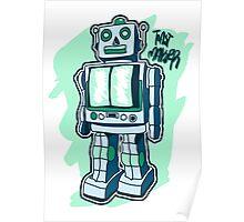 Retro Toy Robot Poster