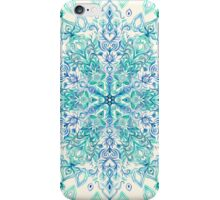 Peppermint Snowflake on Cream iPhone Case/Skin
