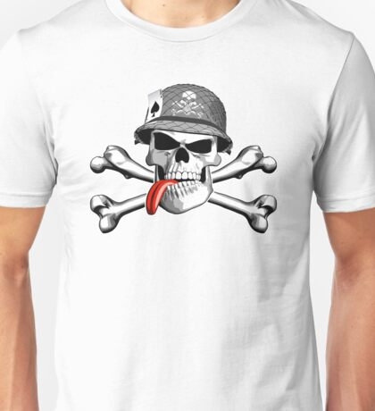 Military skull and crossbones Unisex T-Shirt