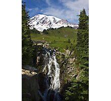Myrtle Falls, Paradise, Mt. Rainier National Park Photographic Print