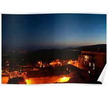 Safed old city at night Poster