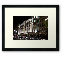 Oxford Street By Night Framed Print