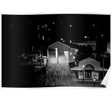 Nightime Wharf Poster