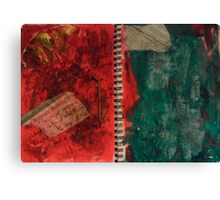 Rust and Jaded Symphonies -DisCo Journal pg2 Canvas Print