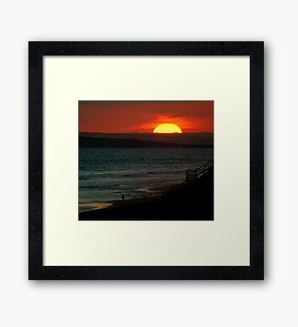 Last Moments,13th Beach Framed Print
