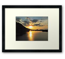 Arkansas Sunset Framed Print