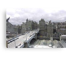 Princess street & Weaverly station Edinburgh   - Scotland Canvas Print