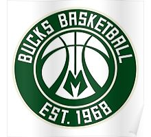 Milwaukee Bucks logo 1 Poster