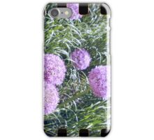 Purple flower analog photo with sprocket holes iPhone Case/Skin