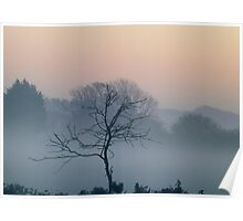 Misty hazy sunrise. Poster