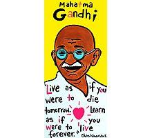 Mahatma Gandhi Pop Folk Art Photographic Print