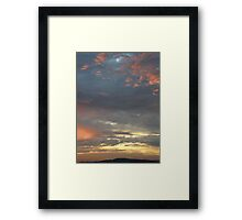Coloured sky - Derry Ireland  Framed Print