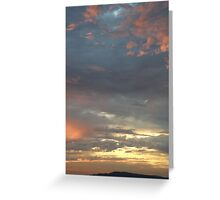 Coloured sky - Derry Ireland  Greeting Card