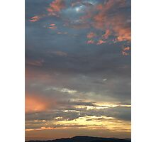 Coloured sky - Derry Ireland  Photographic Print