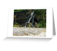 Over spill. Greeting Card