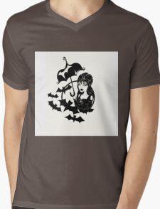 Classic Goth Mens V-Neck T-Shirt