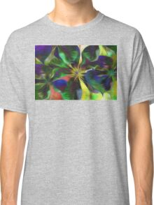 Colorful Clematis Abstract Classic T-Shirt
