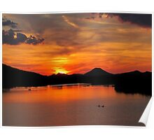 Pinnacle Mountain Sunset Poster