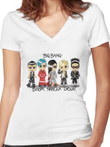 BIGBANG Women's Fitted V-Neck T-Shirt
