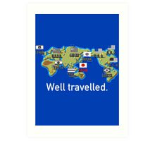 Well Travelled Art Print