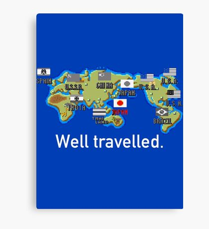Well Travelled Canvas Print