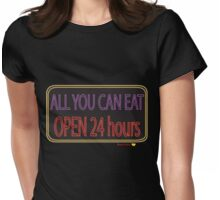 All you can eat Womens Fitted T-Shirt