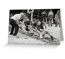 Encouragement, Irish national tug of war championship, New Ross County Wexford, Ireland Greeting Card