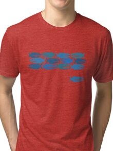 Blue Fish, not Red Fish Tri-blend T-Shirt