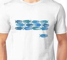 Blue Fish, not Red Fish Unisex T-Shirt
