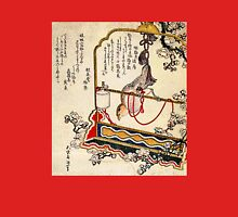 'A Robin As A Present' by Katsushika Hokusai (Reproduction) Womens Fitted T-Shirt