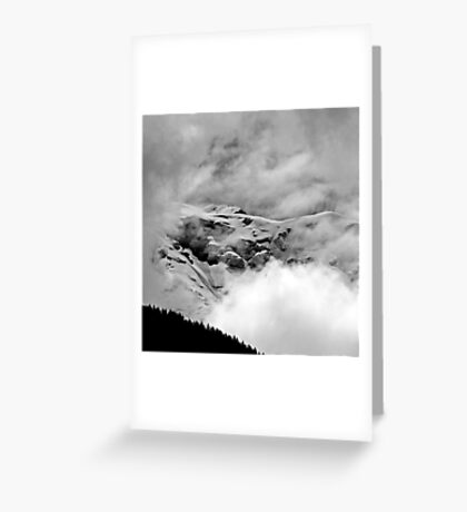 The Mont Blanc from Saint Gervais Greeting Card