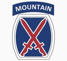 10th Mountain Division Logo Kids Tee
